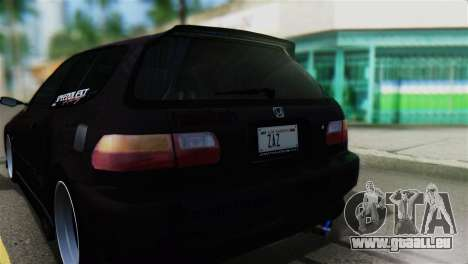 Honda Civic EG6 Kotomi Clannad Itasha pour GTA San Andreas vue arrière