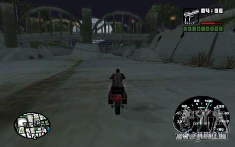 Indicateur de vitesse de VAZ 2105 pour GTA San Andreas quatrième écran