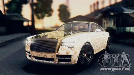 GTA 5 Enus Windsor pour GTA San Andreas vue intérieure