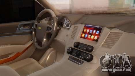 Chevrolet Suburban 2015 pour GTA San Andreas vue de droite