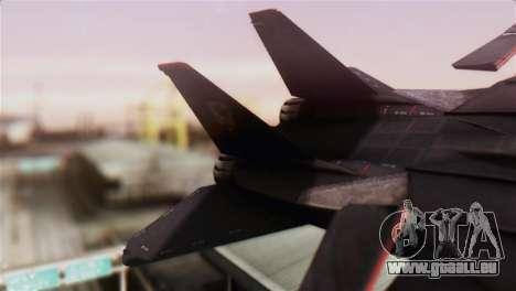 Grumman F-14D Super Tomcat pour GTA San Andreas sur la vue arrière gauche