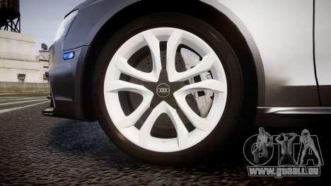 Audi S4 Avant Unmarked Police [ELS] für GTA 4 Rückansicht