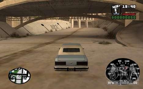 Indicateur de vitesse de VAZ 2105 pour GTA San Andreas troisième écran