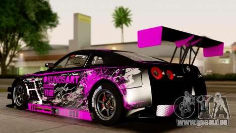 Nissan GT-R (R35) GT3 2012 PJ4 für GTA San Andreas rechten Ansicht