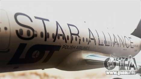 LOT Polish Airlines Airbus A320-200 für GTA San Andreas Rückansicht