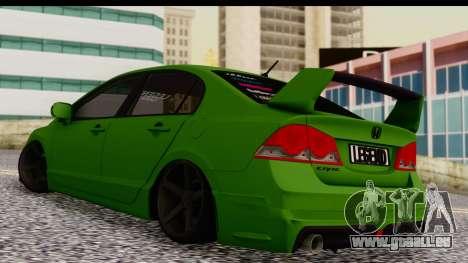 Honda Civic FD6 für GTA San Andreas zurück linke Ansicht