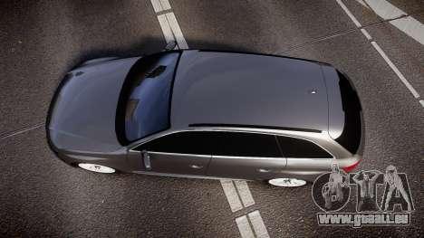 Audi S4 Avant Unmarked Police [ELS] für GTA 4 rechte Ansicht