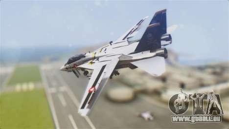 F-14D Tomcat Macross Yellow & Black für GTA San Andreas linke Ansicht