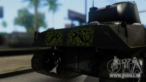 M4 Sherman Gawai Special 2 pour GTA San Andreas vue arrière