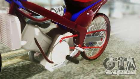 Dream 110 cc of Thailand pour GTA San Andreas vue arrière