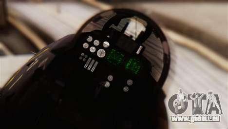 Grumman F-14D Super Tomcat für GTA San Andreas Rückansicht