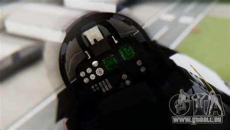 F-14D Tomcat Macross Yellow & Black für GTA San Andreas Rückansicht