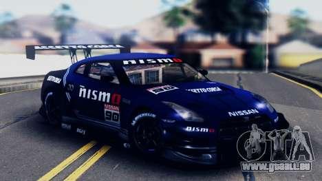 Nissan GT-R (R35) GT3 2012 PJ5 pour GTA San Andreas vue de dessous