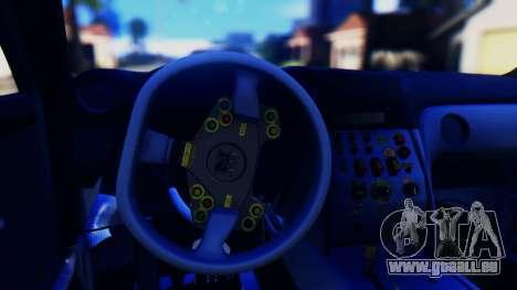 Nissan GT-R (R35) GT3 2012 PJ5 pour GTA San Andreas vue intérieure
