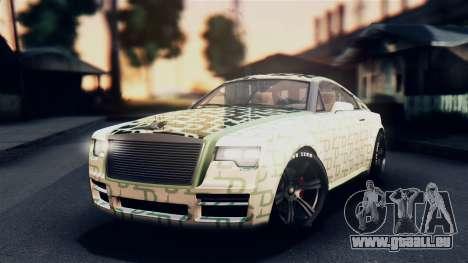GTA 5 Enus Windsor pour GTA San Andreas vue de dessus
