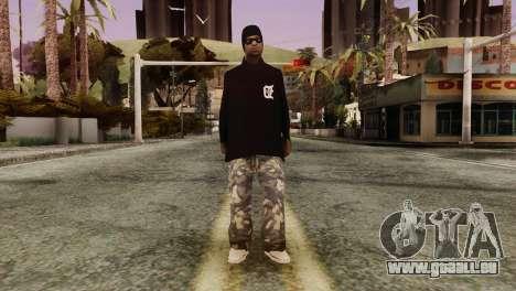 New Ballas Skin für GTA San Andreas zweiten Screenshot