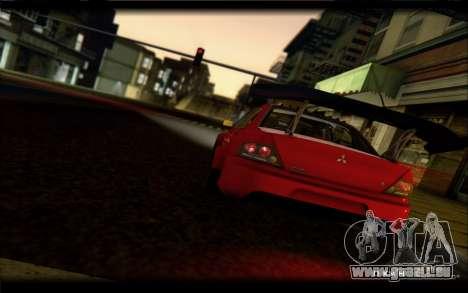 Mitsubishi Lancer Evolution IX Street Edition pour GTA San Andreas vue de droite
