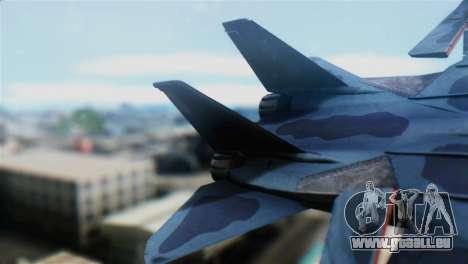 F-14J Super Tomcat JASDF pour GTA San Andreas sur la vue arrière gauche