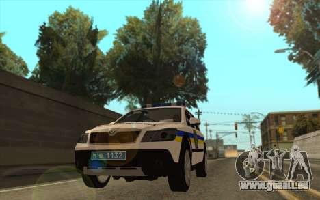 Skoda Octavia Scout DPS Ukraine pour GTA San Andreas sur la vue arrière gauche