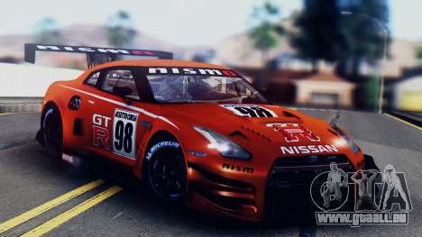 Nissan GT-R (R35) GT3 2012 PJ5 pour GTA San Andreas salon