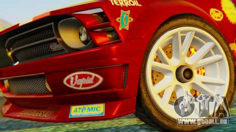 GTA 5 Vapid Dominator Pisswasser SA Lights pour GTA San Andreas sur la vue arrière gauche