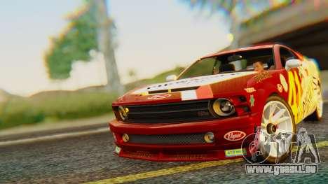 GTA 5 Vapid Dominator Pisswasser SA Lights für GTA San Andreas