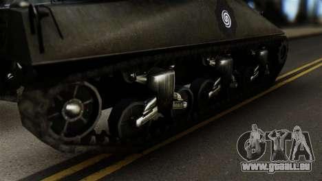 M4 Sherman Gawai Special 2 für GTA San Andreas zurück linke Ansicht