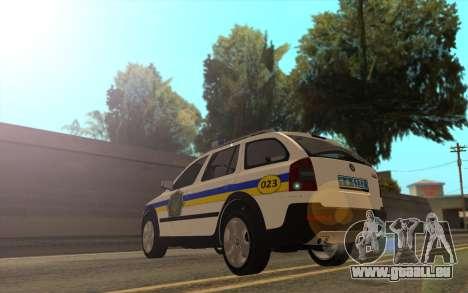Skoda Octavia Scout DPS Ukraine pour GTA San Andreas laissé vue