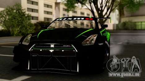 Nissan GT-R (R35) GT3 2012 PJ4 für GTA San Andreas Rückansicht