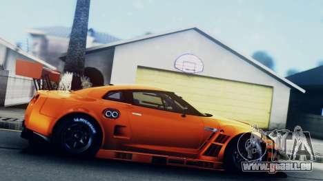 Nissan GT-R (R35) GT3 2012 PJ5 pour GTA San Andreas sur la vue arrière gauche
