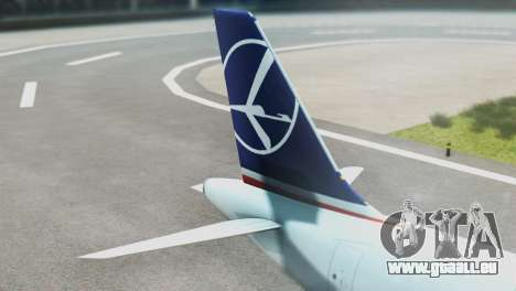 LOT Polish Airlines Airbus A320-200 (New Livery) für GTA San Andreas zurück linke Ansicht