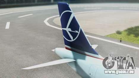 LOT Polish Airlines Airbus A320-200 (New Livery) für GTA San Andreas zurück linke Ansicht