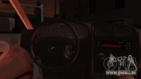 BMW 316i Touring pour GTA San Andreas vue intérieure