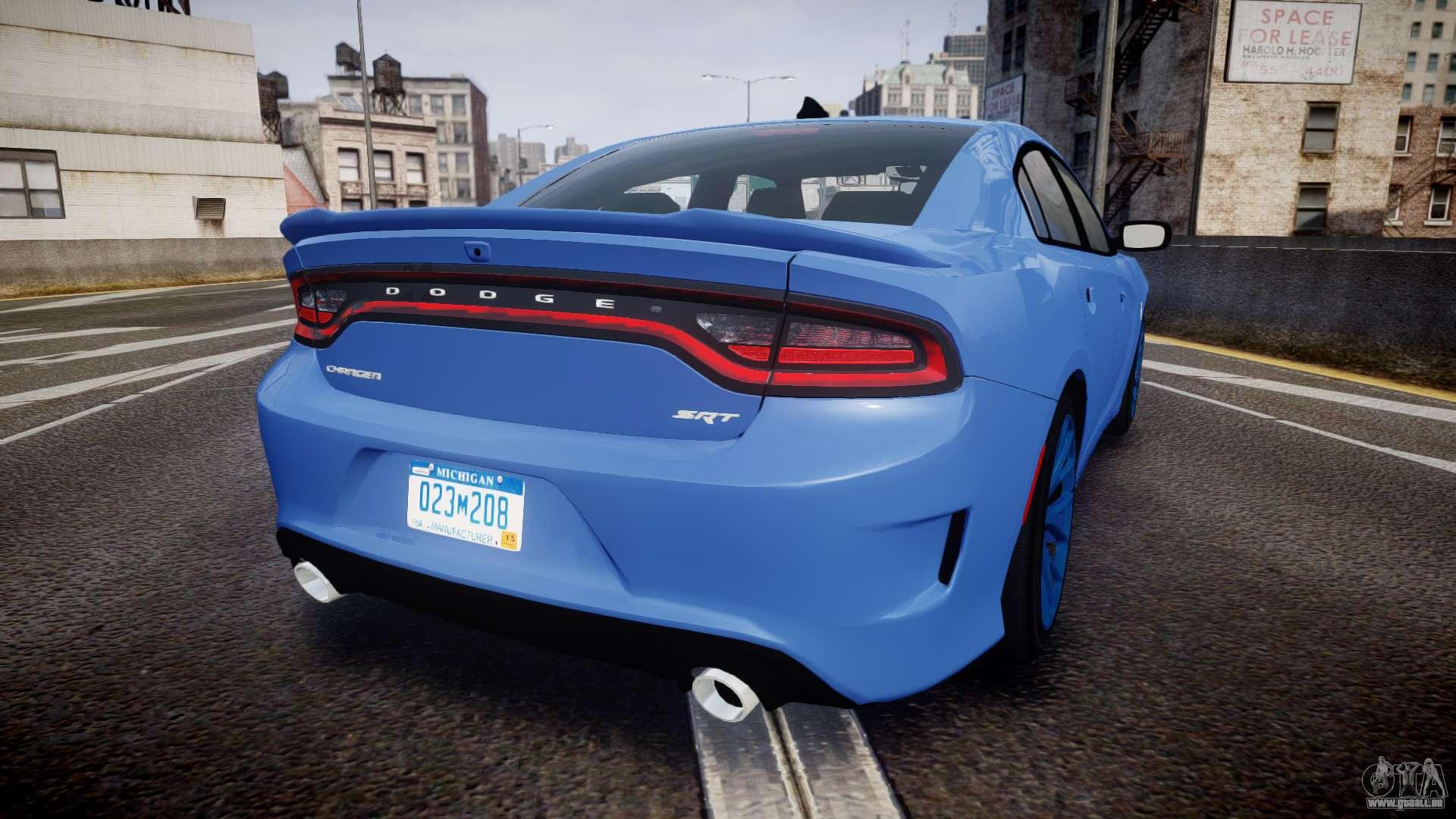 Dodge Charger SRT 2015 Hellcat pour GTA 4 Vue arrière de la gauche