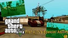 Besondere Fähigkeit der Franklin-Anzeige