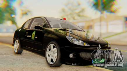Peugeot 206 Coupe Police pour GTA San Andreas