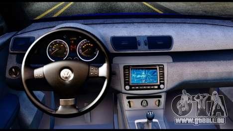 Volkswagen Passat B6 pour GTA San Andreas vue arrière