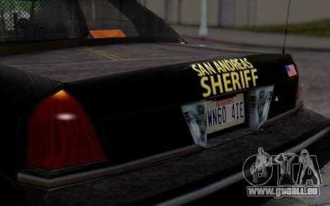 Ford Crown Victoria Sheriff pour GTA San Andreas vue arrière