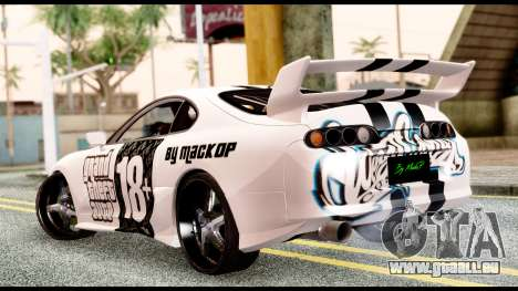 Toyota Supra Full Tuning v2 pour GTA San Andreas laissé vue