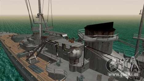 Scharnhorst Battleship für GTA San Andreas Rückansicht
