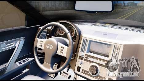 Infiniti FX45 pour GTA San Andreas vue arrière