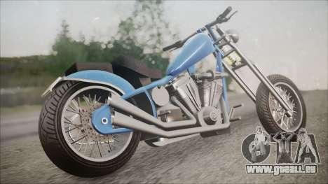 LCC Hexer GTA 5 HQLM pour GTA San Andreas laissé vue