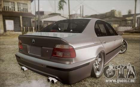 BMW M5 E39 E-Design pour GTA San Andreas laissé vue