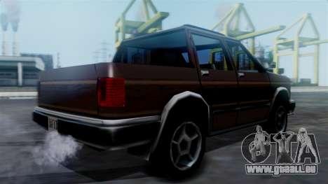 Landstalker Pickup pour GTA San Andreas laissé vue
