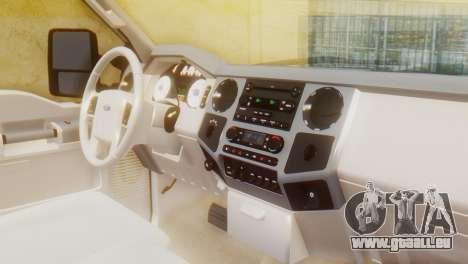 Ford F-350 Super Duty Regular Cab 2008 HQLM pour GTA San Andreas vue de droite