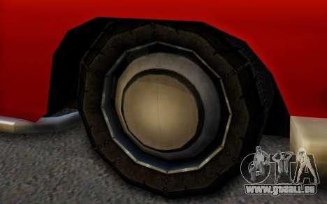 Dundreary Hermes pour GTA San Andreas sur la vue arrière gauche