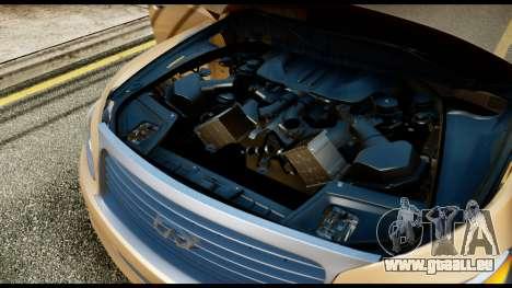 Infiniti QX56 Final pour GTA San Andreas vue arrière
