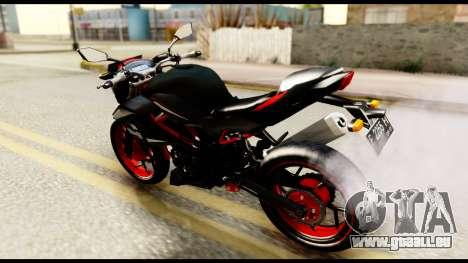 Kawasaki Z250SL Red für GTA San Andreas zurück linke Ansicht