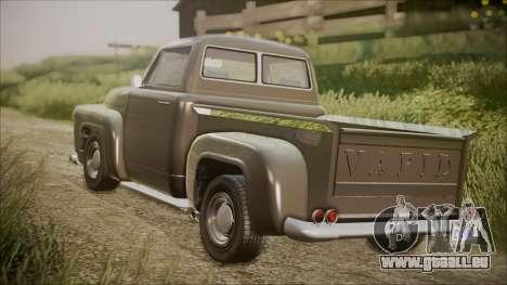 GTA 5 Vapid Slamvan Pickup IVF pour GTA San Andreas laissé vue