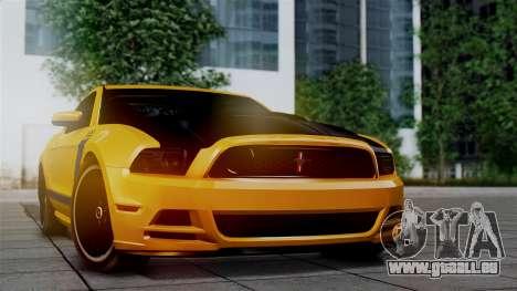 Ford Mustang Boss 302 2013 pour GTA San Andreas sur la vue arrière gauche